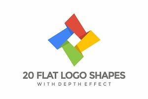 20 Flat Logo Shapes