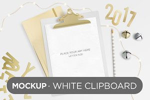 White Clipboard Mockup