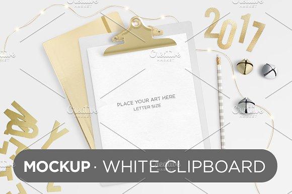 Download White Clipboard Mockup