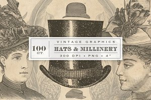 Vintage Hats & Millinery Graphics
