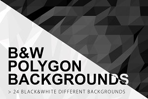 Black & White Polygon Backgrounds