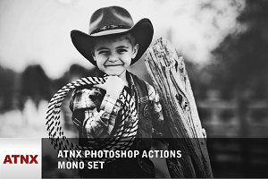 ATNX Photoshop Actions (Mono Set)