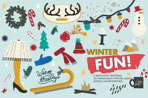 Winter Fun Vector Set