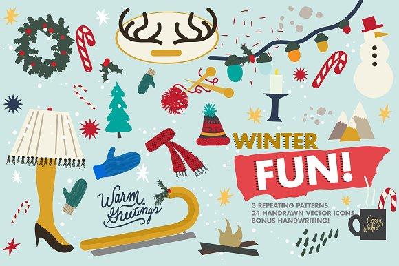 Winter Fun Vector Set