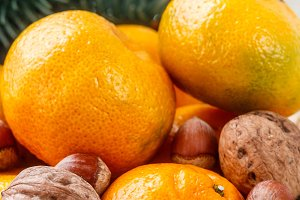 Tangerines and nuts