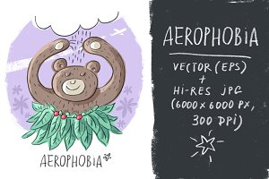 Character illustration Aerophobia