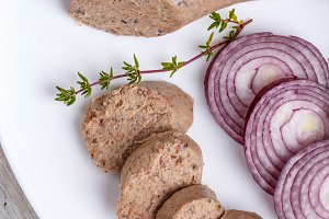 White pudding sausage