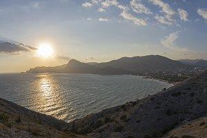 Sun over the coastal mountains.