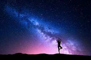 Milky Way. Silhouette of
