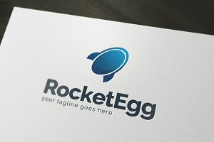 Rocket Egg Logo Template
