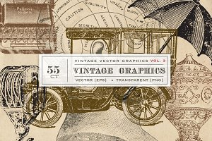 Vintage Vector Graphics Vol. 3