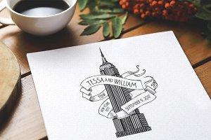 Empire State New York Wedding Logo