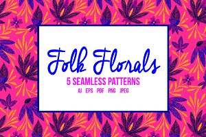 Folk Floral Patterns