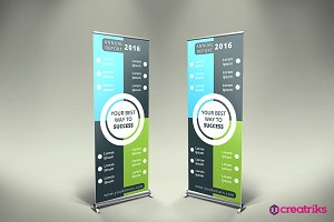 Annual Report Roll Up Banner