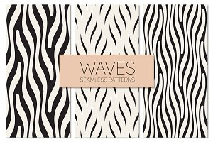 Waves. Seamless Patterns Set 2