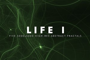 Life I - Fractal Background Art