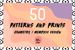 50 geometric patterns, 80's vibes.