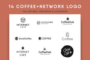 Coffee+network Logopack