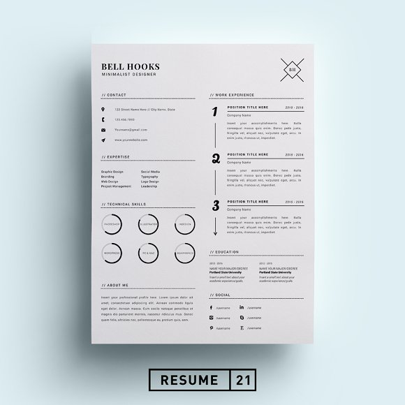 minimal designer resume template cv resumes - Design Resume Templates