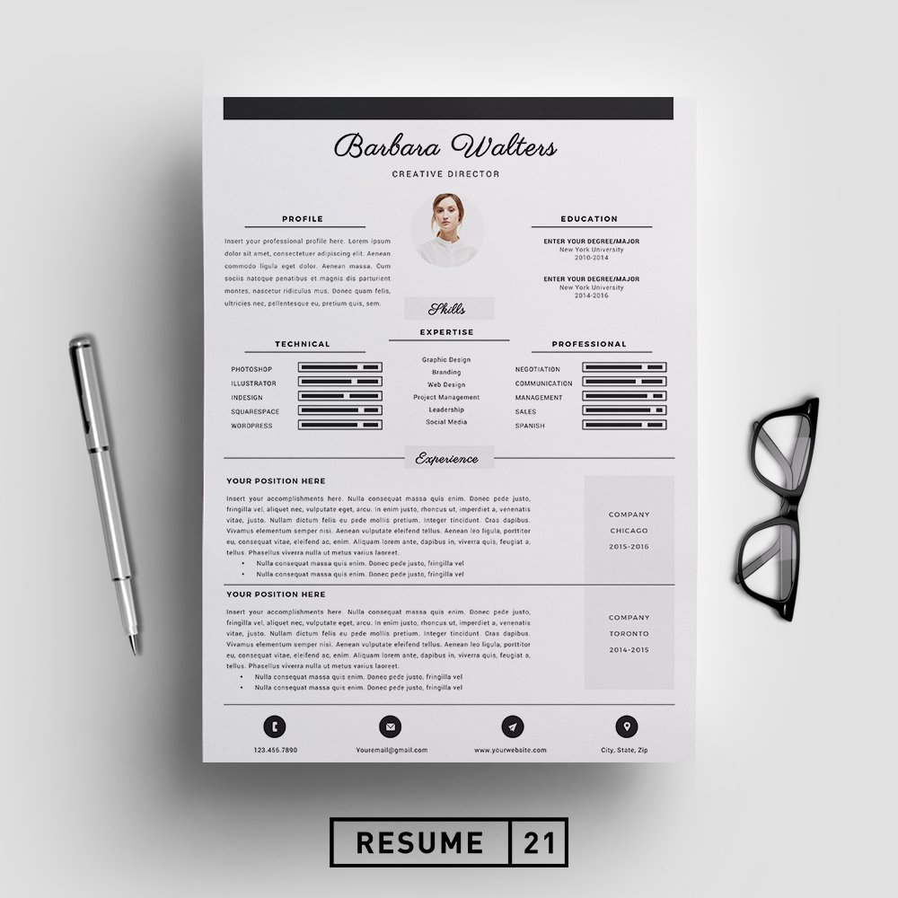 Creative Director Resume Template Cv Templates
