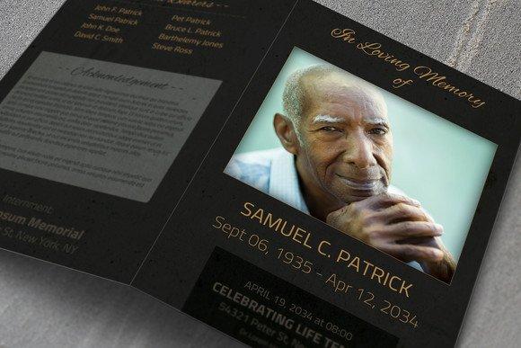 funeral template bifold brochure templates creative