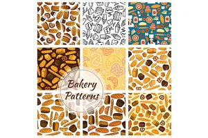 Bakery bread and sweet desserts