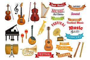 Musical instruments and decorative