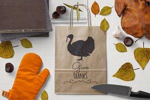 Thanksgiving turkey silhouette