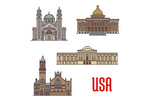 USA travel landmarks