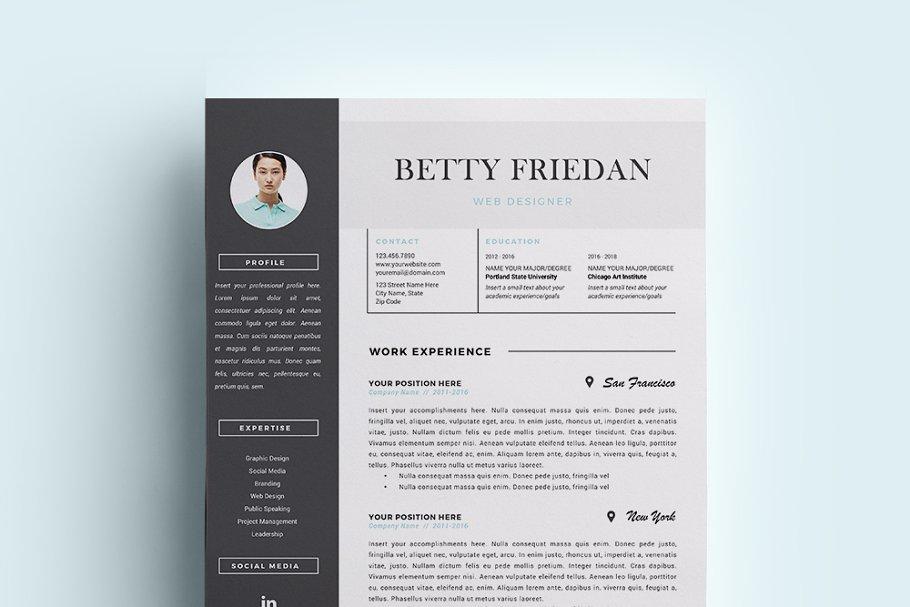 Web Designer Resume Template/ CV ~ Resume Templates ...