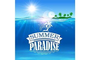 Summer paradise banner