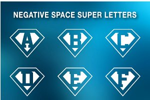 Super letters - negative space