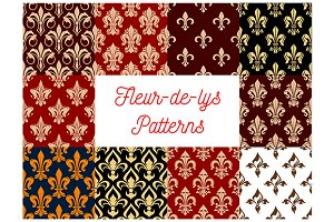 Fleur-de-lys royal lily patterns
