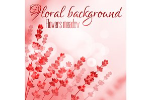 Floral background with flower meadow