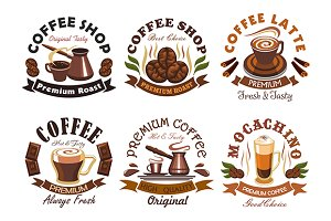 Coffee vector emblems