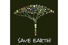 Shape of egology tree