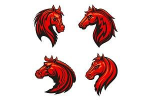Horse head heraldic emblems
