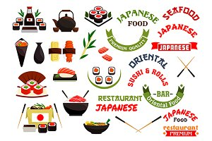 Japanese cuisine vector elements