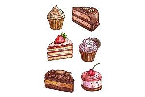 Patisserie sweet desserts