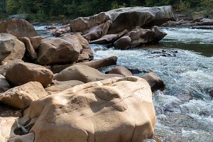 Cheat river rock formations