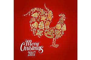 Gingerbread rooster symbol