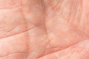 Close up of skin on senior man hand