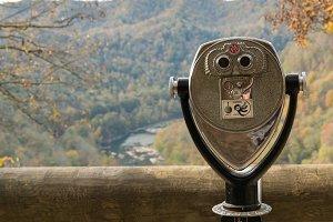 Coin binoculars at overlook