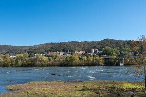 Town of Hinton in West Virginia