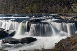 Sandstone Falls waterfall in WV