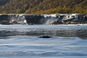 Sandstone Falls waterfall in WV