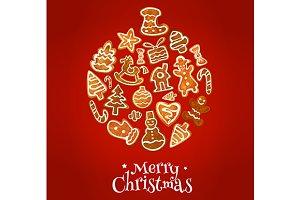 Christmas ball symbol