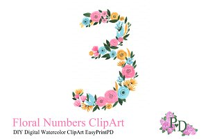 Hand painted Floral Number 3