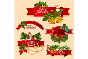 Christmas and New Year ribbons