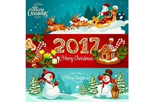 Christmas holiday banners
